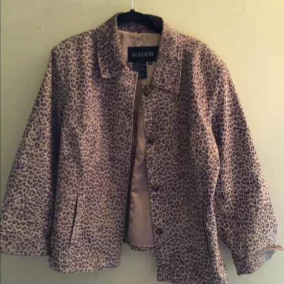 Gorgeous animal print leather jacket